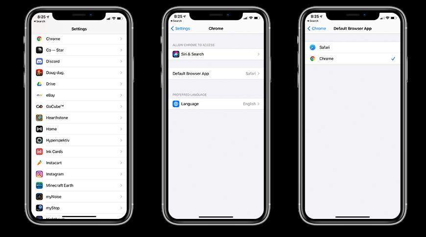 Cómo cambiar el navegador predeterminado en iOS 14