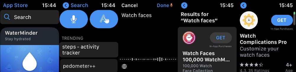 Cómo buscar y comprar esferas de reloj directamente en Apple Watch