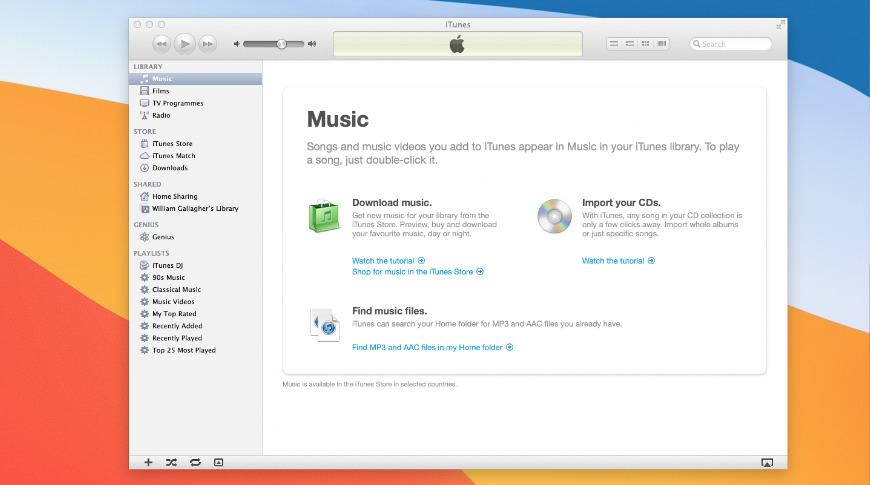 Esa es la versión 10 de iTunes.7 ejecutándose en macOS Big Sur