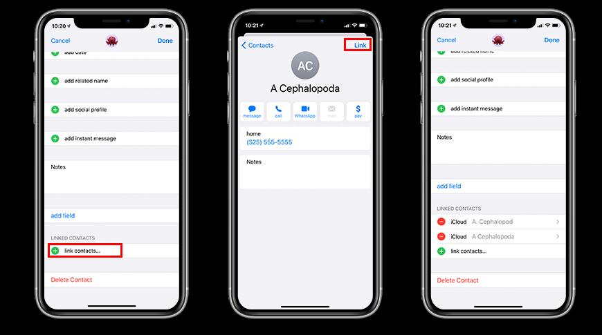 Cómo fusionar contactos en iPhone o iPad