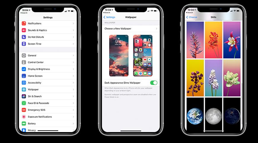 Configurar un fondo de pantalla en iOS 14