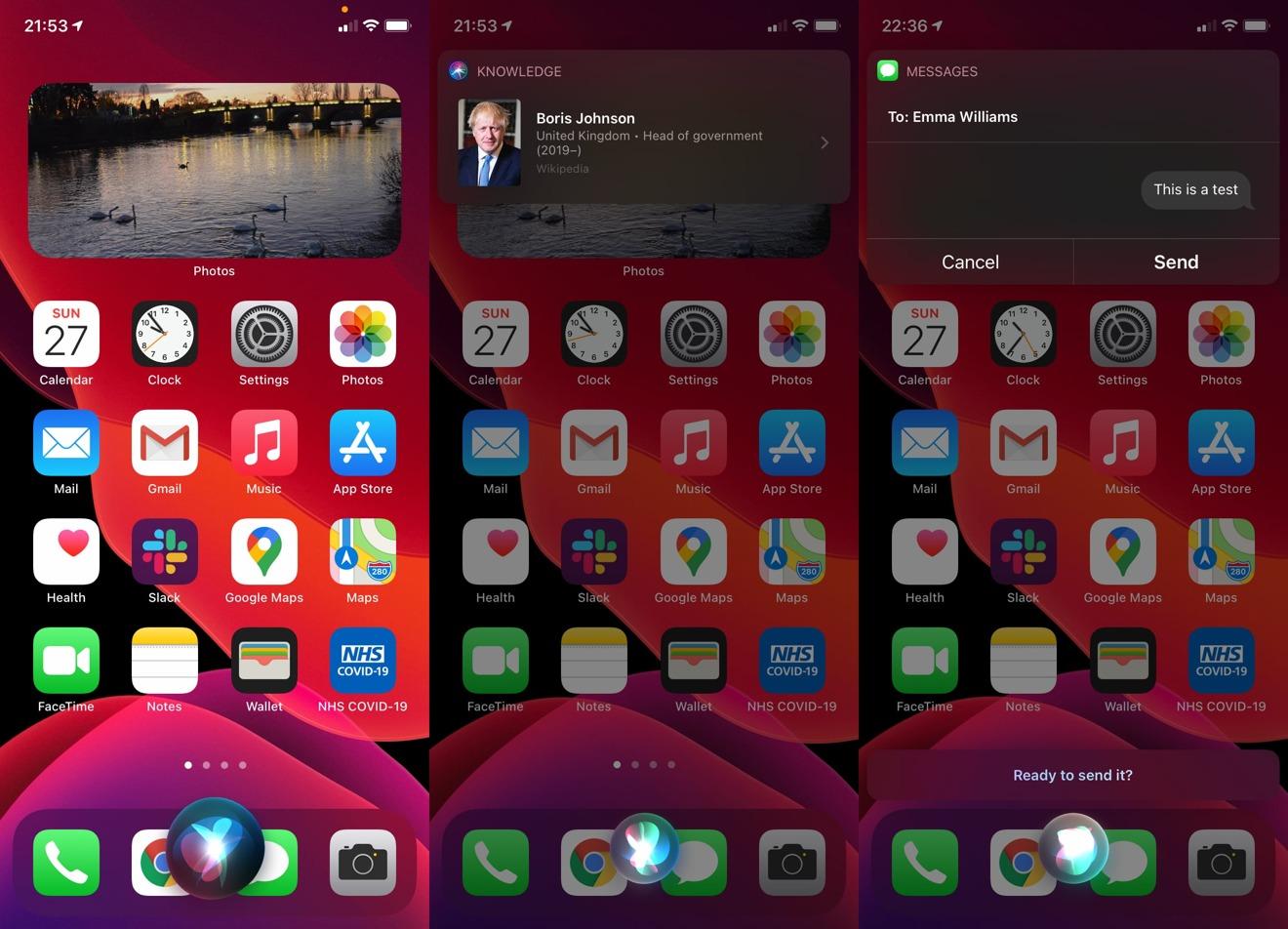 La nueva apariencia de Siri ocupa menos pantalla, lo que le permite mantener su atención en las aplicaciones que está usando.