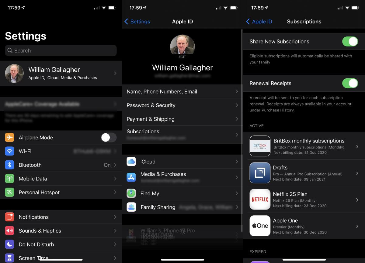En iOS 14.2 y luego, la capacidad de compartir suscripciones debería estar activada de forma predeterminada.