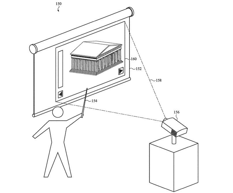 Un proyector de detección puede desencadenar interacciones desde un lápiz táctil que toca una superficie.