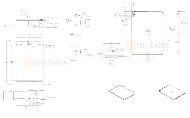 Supuestos esquemas de iPad (a través de 91 móviles)