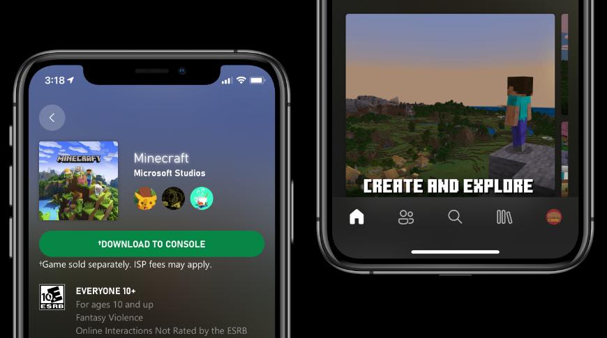 El diseño de la aplicación Xbox se alinea con el lenguaje de diseño de iOS