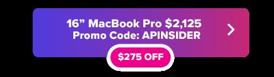16  pulgadas código promocional MacBook Pro