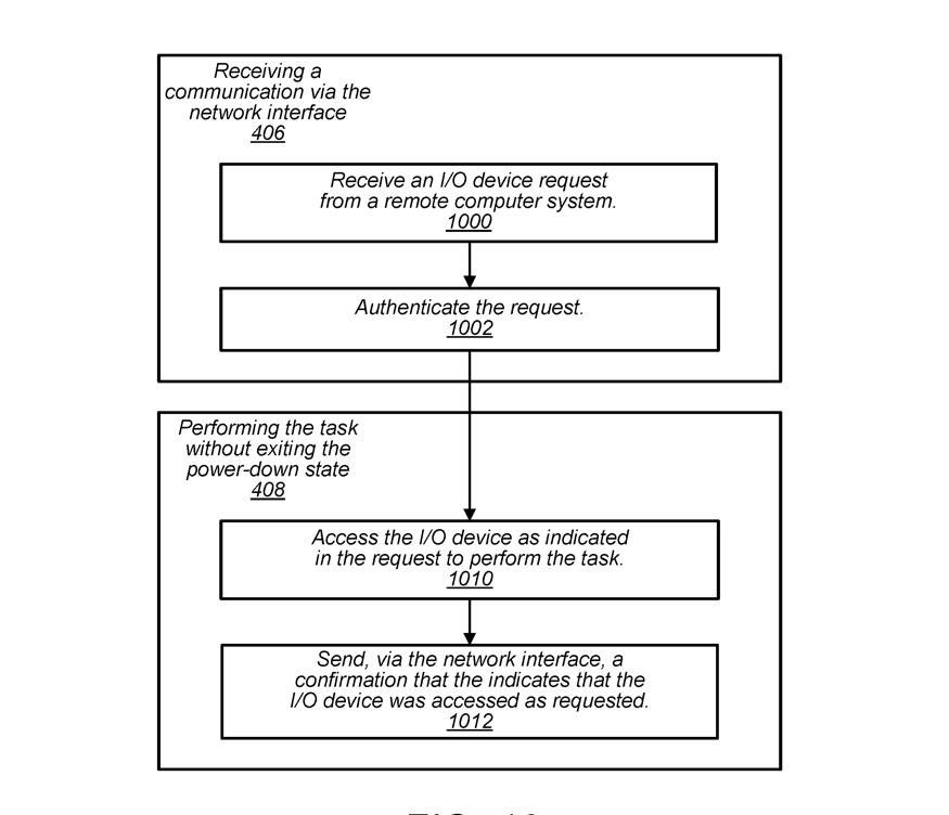 Detalle de los diagramas de bloques de la patente que muestran una serie de pasos de ejemplo que un sistema podría utilizar