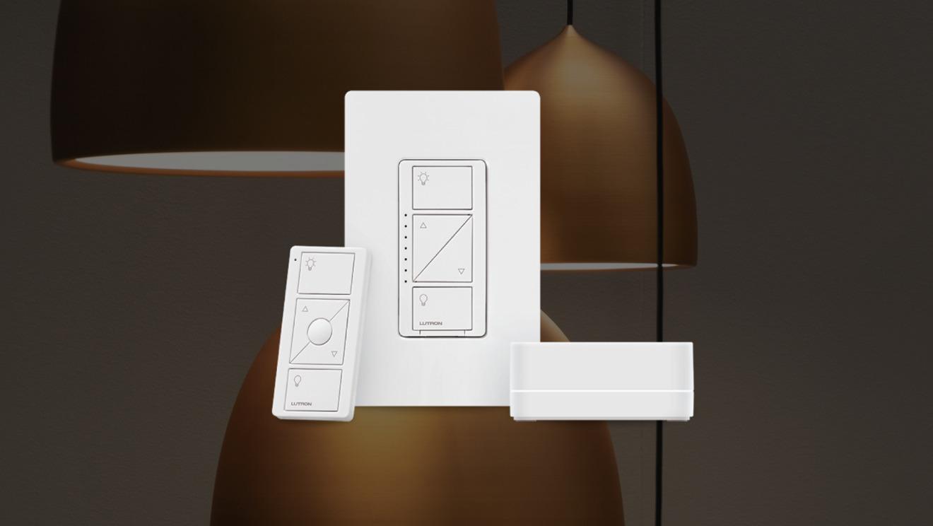 Interruptor de atenuación, interruptor de pared y concentrador Caseta de Lutron