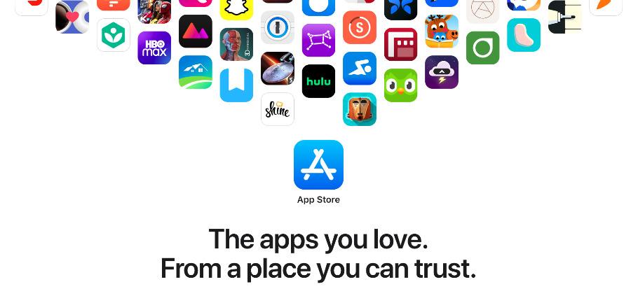 Detalle de ApplePáginas de promoción de la App Store recientemente renovadas