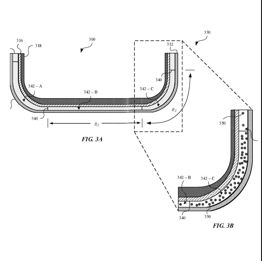Detalle de la patente que muestra la alineación de partículas magnéticas