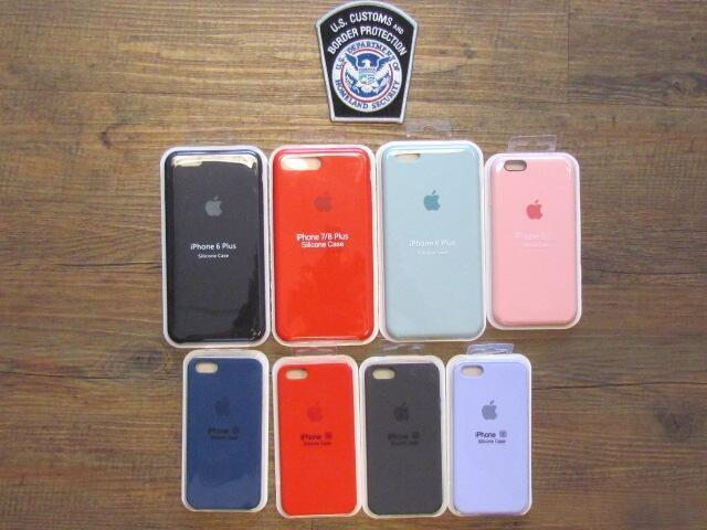 Las fundas de iPhone recientemente incautadas de Custom and Border Protection