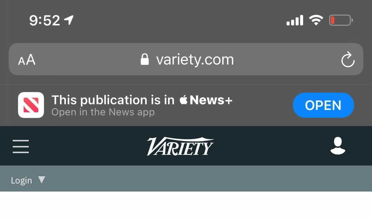 El banner inteligente modificado en la última versión beta para desarrolladores de iOS 14.