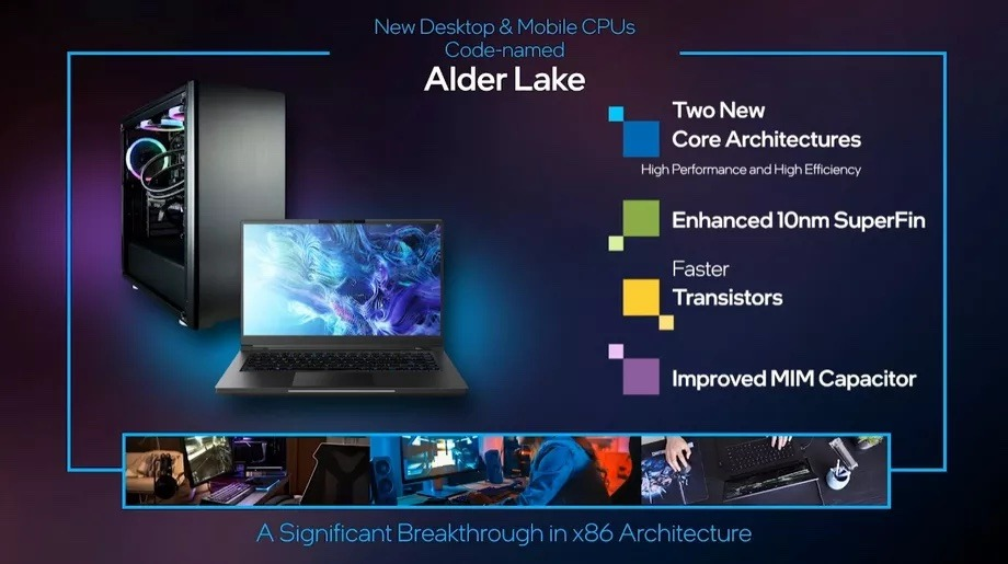 Las primeras computadoras con chips Alder Lake debutarán en la segunda mitad de 2021. Crédito: Intel