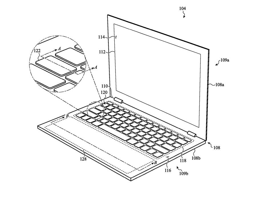 Un ejemplo de trackpad amplio y dinámico