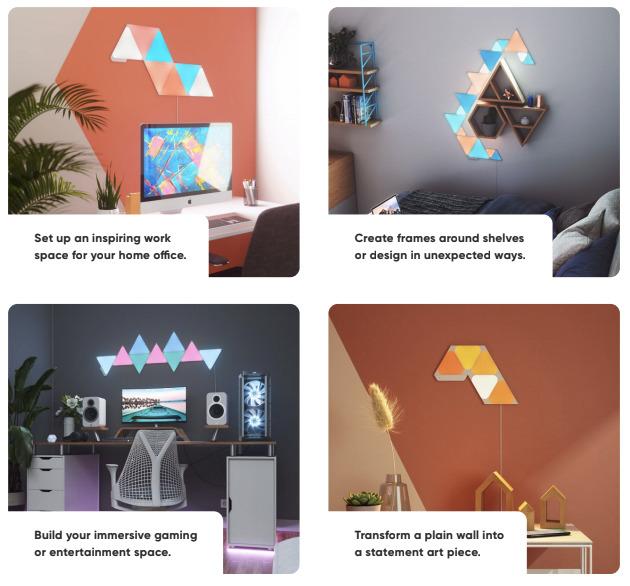 Nuevas opciones de diseño que combinan triángulos y mini triángulos