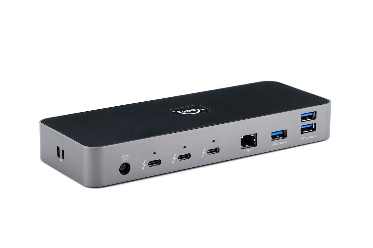 El rayo 4 Dock cuenta con una gran cantidad de puertos que se conectan a una Mac o PC a través de Thunderbolt.