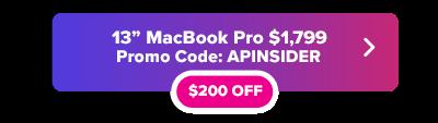 13  Pulgadas botón de descuento MacBook Pro