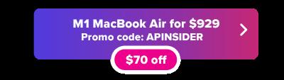 MacBook Air M1 en stock y $ 70 de descuento