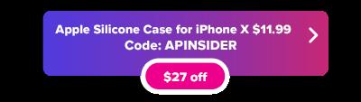 Apple  Funda de silicona para iPhone X