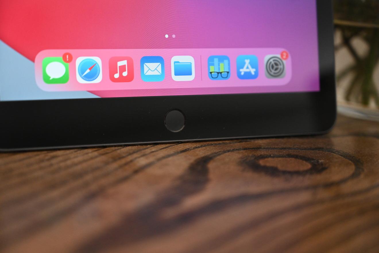 Botón de inicio en el iPad de octava generación