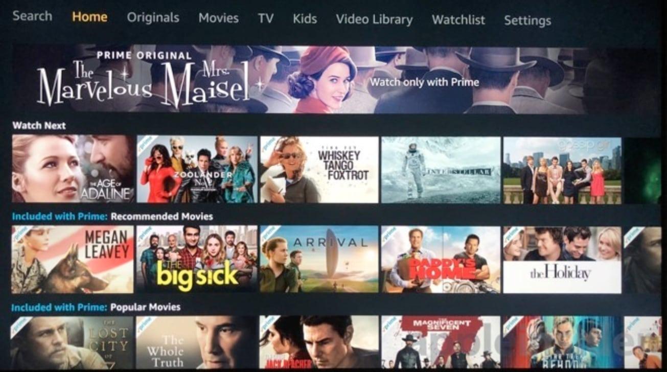 AmazonLa aplicación de video ofrece acceso a todo su contenido de Prime Instant Video.