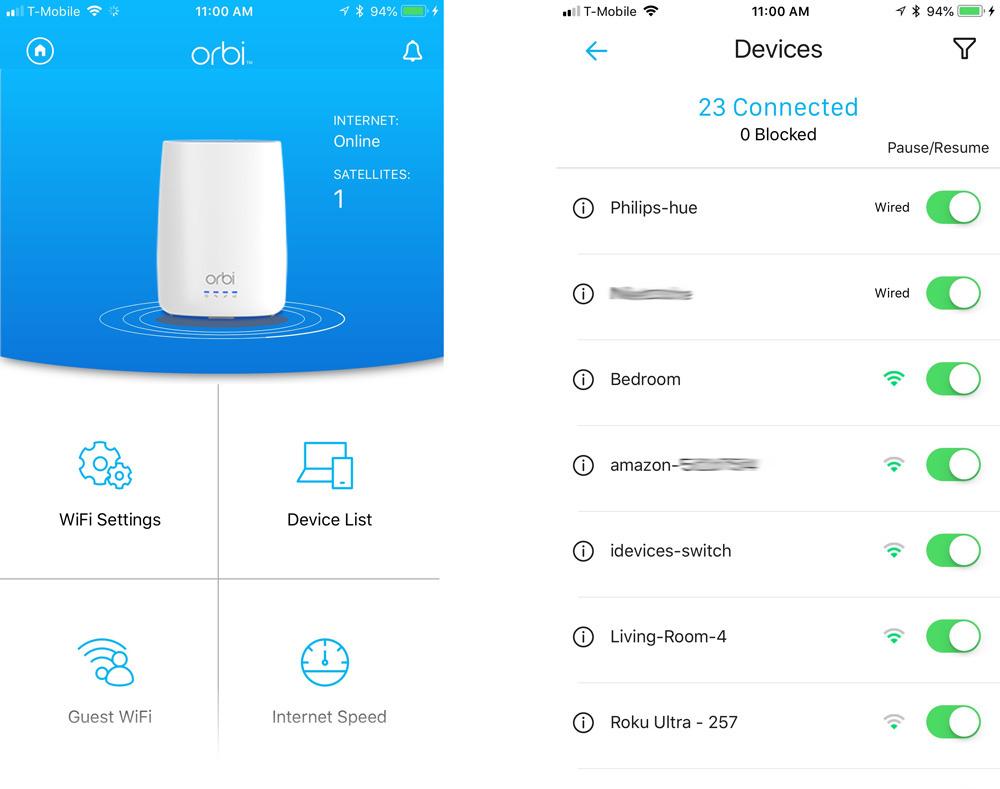 Aplicación para iPhone Netgear Orbi