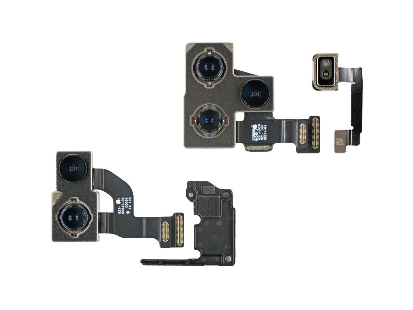 El iphone 12 y cámaras profesionales, así como un espaciador de cámara [via iFixit]
