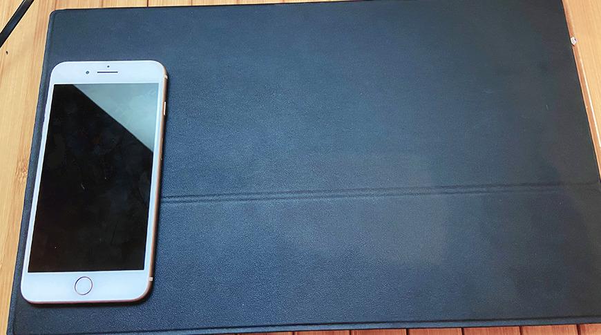 Mostrado con un iPhone 8 Plus por escala