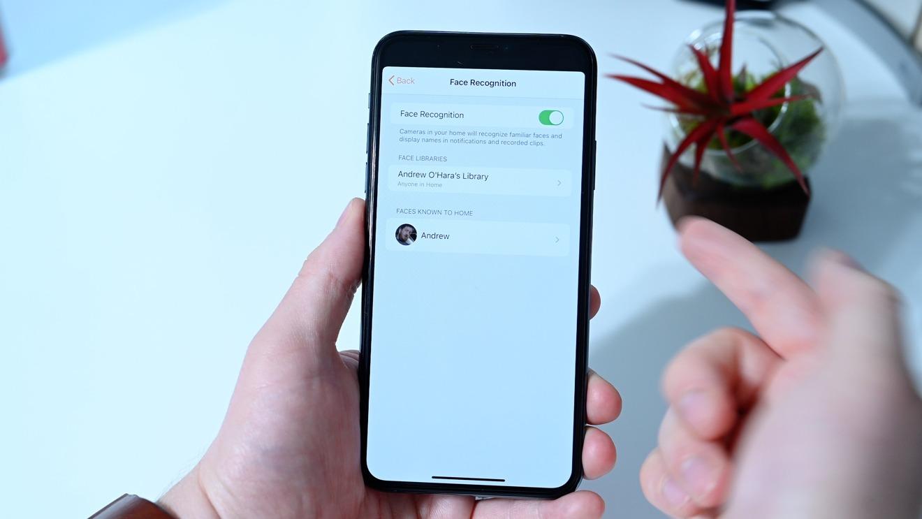Reconocimiento facial en iOS 14 en Eve Cam