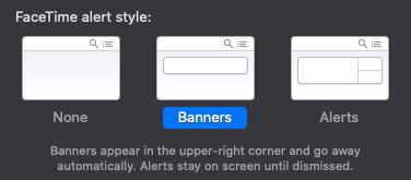 Opciones de estilo de alerta de la aplicación