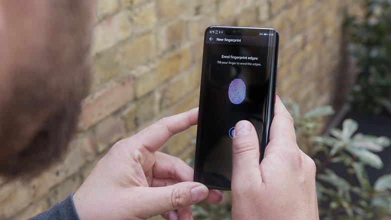 AndroidPIT Huawei compañero 20 pro huella digital