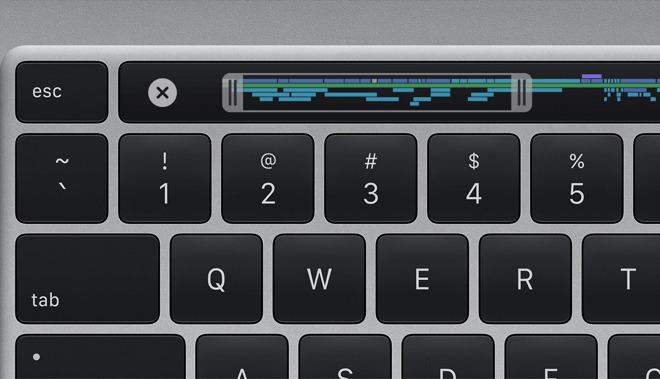 Detalle del nuevo teclado en el 16-pulgadas MacBook Pro